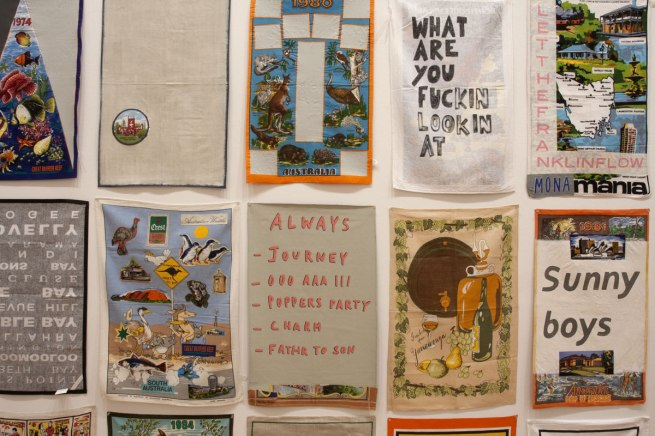 Jon Campbell. 'DUNNO (T. Towels)' (detail) 2012