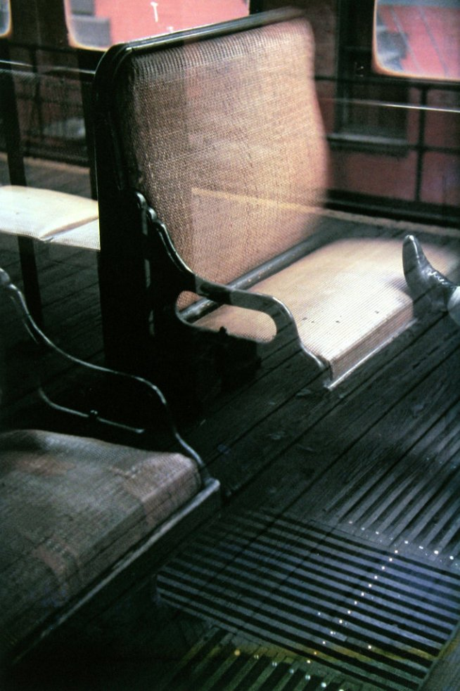 Saul Leiter. 'Foot on El' 1954