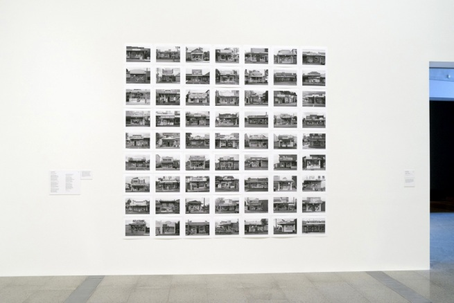Installation view of the series 'Milk Bars of Melbourne', 2010-13 by David Wadelton at the exhibition 'Melbourne Now'