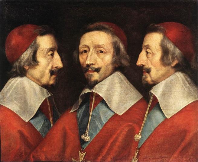 Philippe de Champaigne (1602-1674) 'Triple portrait of Cardinal Richelieu' 1642