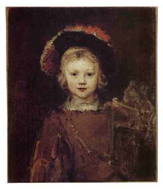 Rembrandt van Rijn (Dutch, 1641-1668) 'Portrait of a Boy in Fancy Dress (Titus)' c. 1655