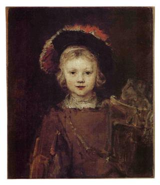 Rembrandt van Rijn (Dutch, 1641-1668) 'Portrait of a Boy in Fancy Dress (Titus)' c. 1655