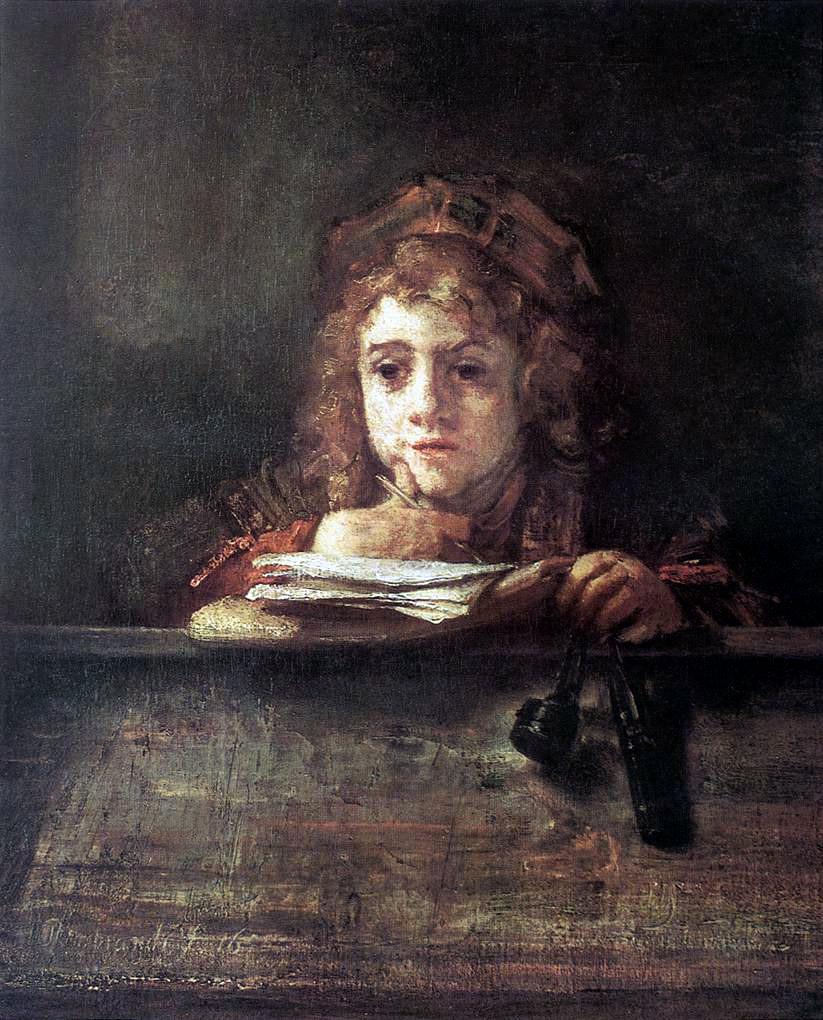 Rembrandt Portrait Of A Boy In Fancy Dress
