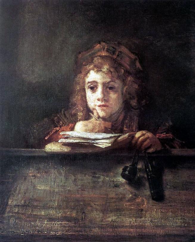 Rembrandt van Rijn (Dutch, 1641-1668) 'Portrait of Titus' 1655