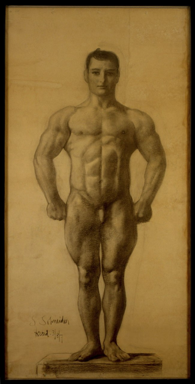 Sascha Schneider. 'Athlete in Basic Position' 1907