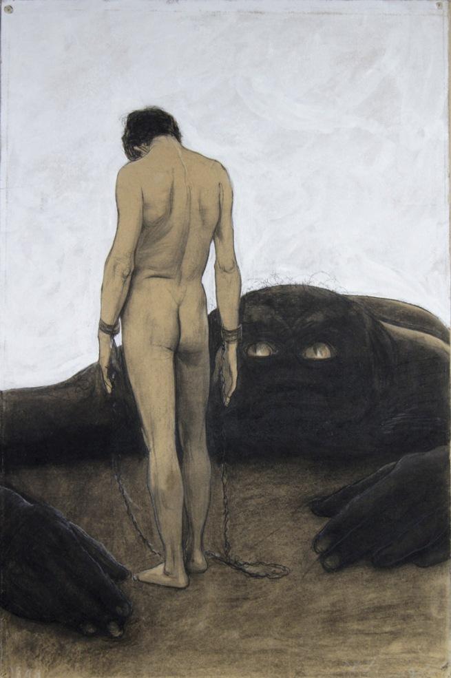 Sascha Schneider. 'Feeling of Dependency' 1894