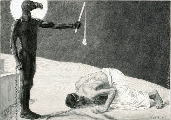 Sascha Schneider. 'Mammon and his Slave' c. 1896