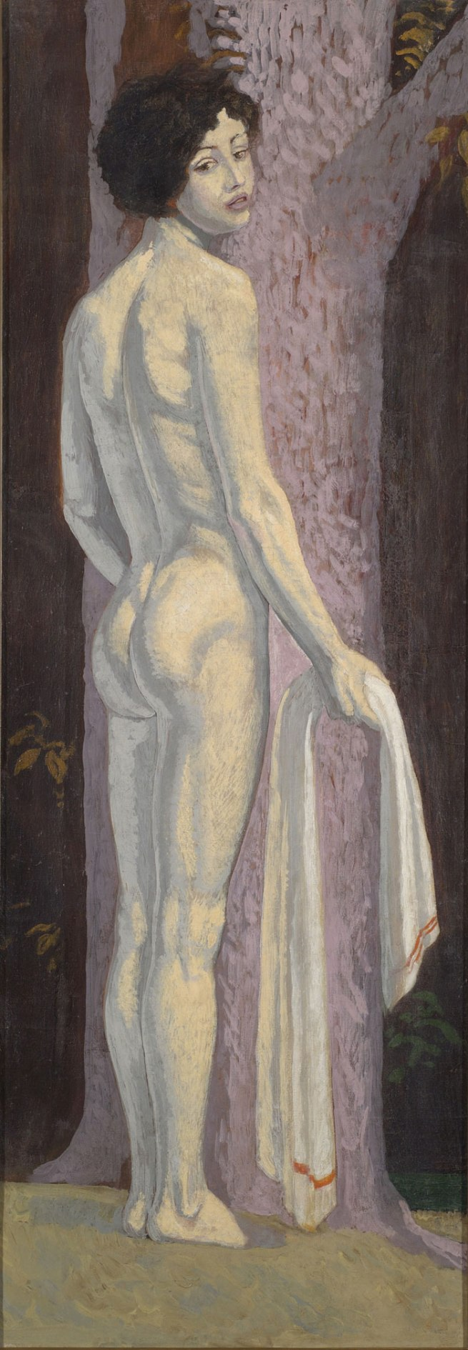 Sascha Schneider. 'Rear View of Nude with Towel' c. 1920