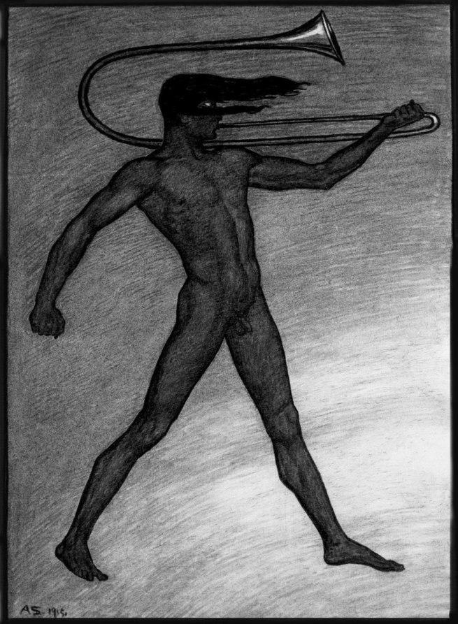 Sascha Schneider. 'War Cry' 1915