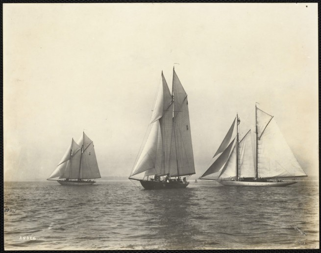 Nathaniel Livermore Stebbins 1847-1922 (Photographer) 'Start of Schooners' 1920-07-10