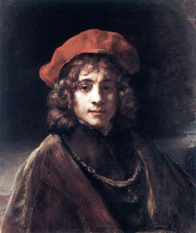 Rembrandt van Rijn (Dutch, 1641-1668) 'The Artists Son Titus' 1657