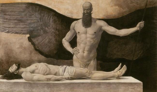Sascha Schneider. 'Triumph of Darkness' 1896