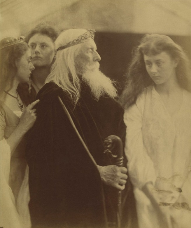 Julia Margaret Cameron (English, 1815-1879) 'King Lear and his Three Daughters' 1872