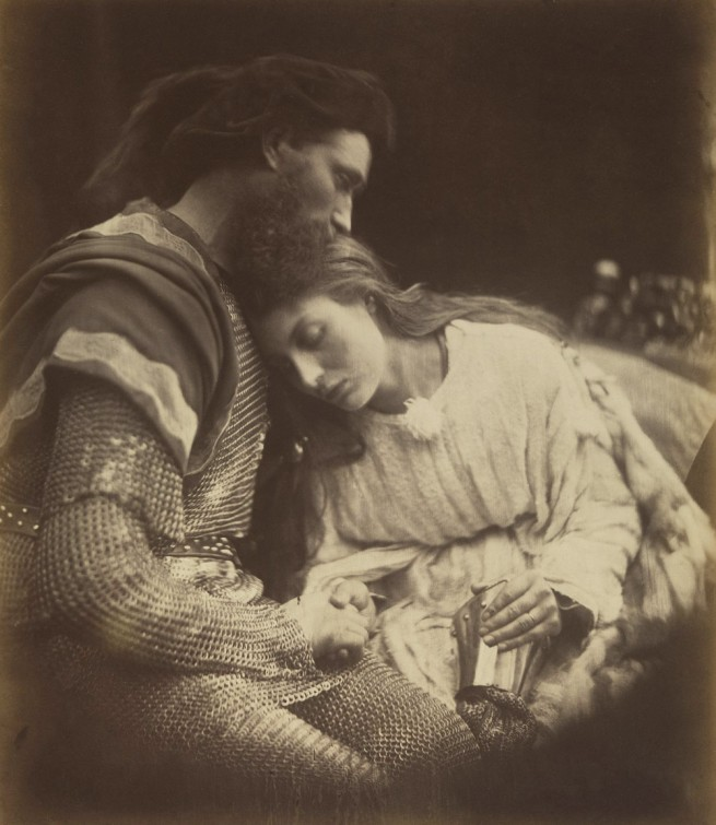 Julia Margaret Cameron (English, 1815-1879) 'The Parting of Lancelot and Guinevere' 1874