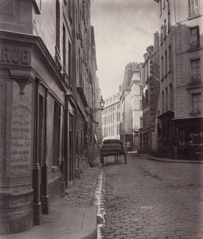 Charles Marville. 'Rue de la Bûcherie, from the cul de sac Saint-Ambroise (fifth arrondissement)' 1866-1868