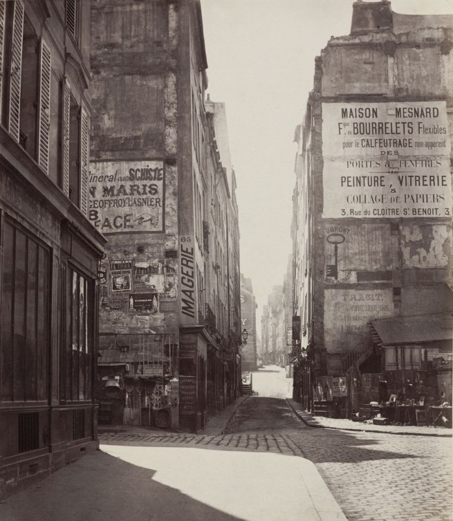 Charles Marville. 'Rue Saint-Jacques (fifth arrondissement)' 1865-1866
