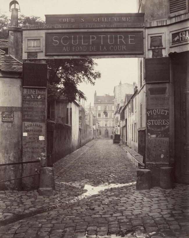 Charles Marville. 'Cour Saint-Guillaume (ninth arrondissement)' 1866-1867