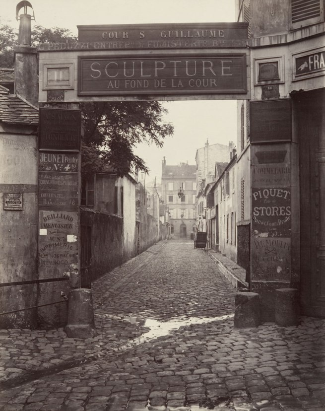 Charles Marville. 'Cour Saint-Guillaume (ninth arrondissement)' 1866-1867