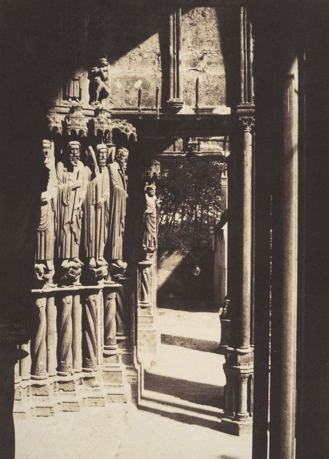 Charles Marville. 'South Portal, Chartres Cathedral' 1854