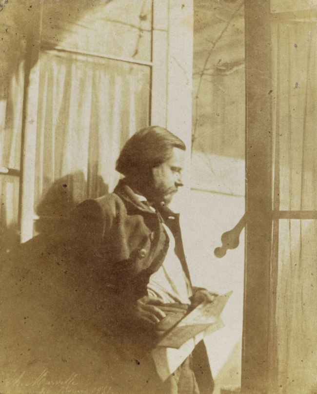 Charles Marville. 'Self-Portrait at a Window, February 20, 1851' 1851