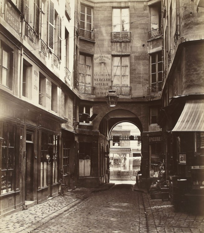 Charles Marville. 'Passage Saint-Guillaume (vers la rue Richelieu) (first arrondissement)' 1863-1865