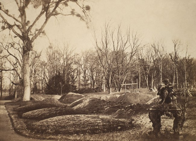 Charles Marville. 'Gardens of the Bagatelle under Construction' 1858-1862