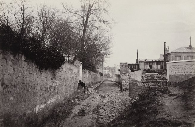 Charles Marville. 'Avenue du Commandeur (de la rue d'Alésia) (fourteenth arrondissement)' 1877-1878