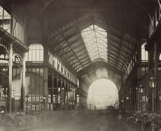 Charles Marville. 'Interior of Les Halles Centrales' 1874