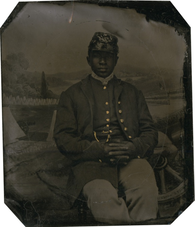 Unknown photographer. 'Private Abraham F. Brown' 1863