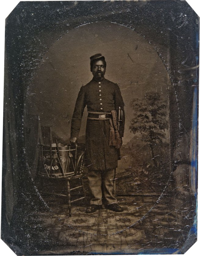 Unknown photographer. 'Private William J. Netson, musician' c. 1863-1864