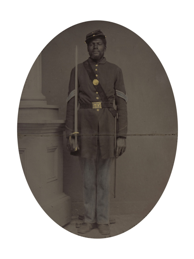 Unknown photographer. 'Sergeant Henry F. Steward' (with overmat) 1863