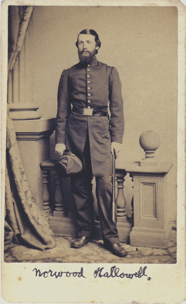 Unknown photographer. 'Captain Norwood P. Hallowell' c. 1862-1863