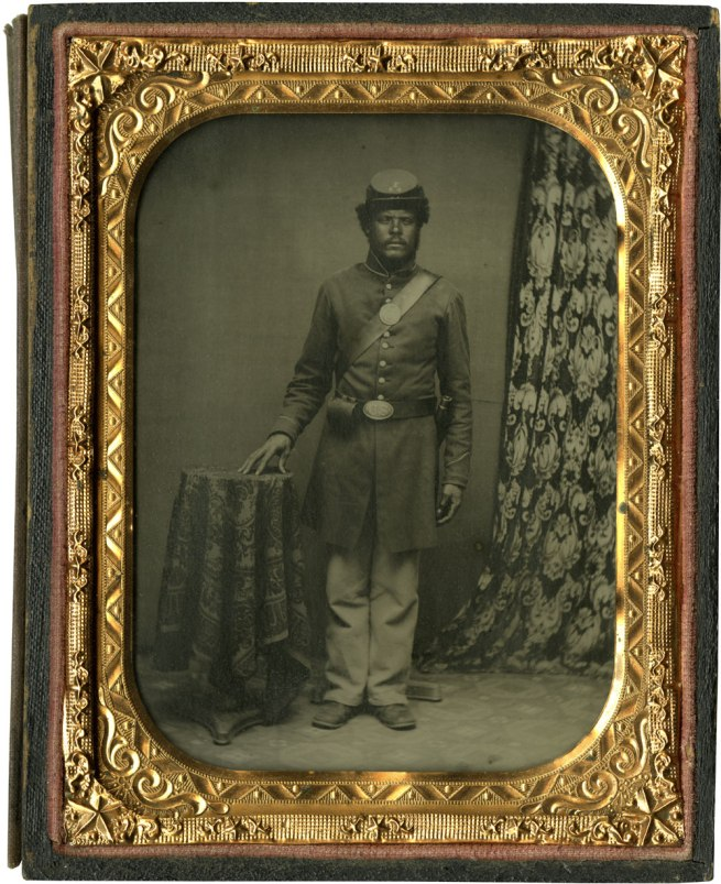Unknown photographer. 'Unidentified Private, Company I, 54th Massachusetts Regiment' 1863