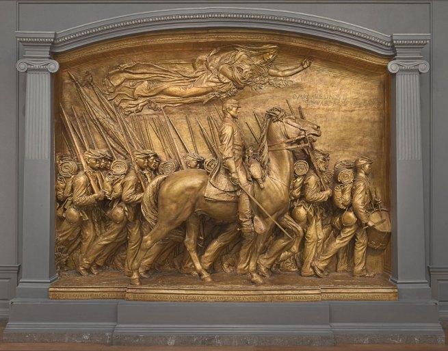 Augustus Saint-Gaudens. 'Shaw Memorial' 1900