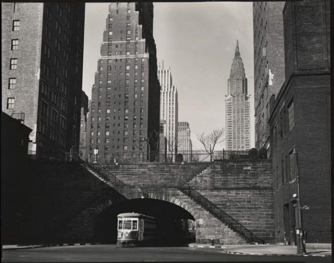 Brett Weston (American, 1911-1993) '[42nd Street at First Avenue, New York]' c. 1945