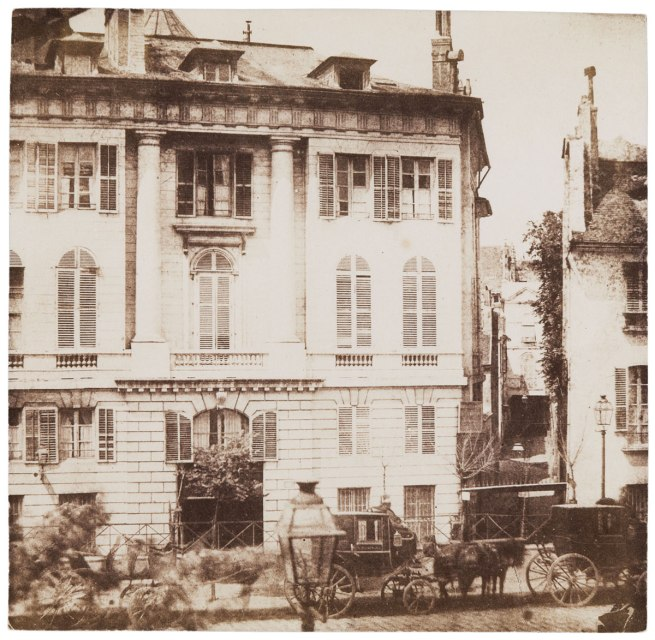 William Henry Fox Talbot (British, 1800-1877) 'View of the Paris Boulevards from the First Floor of the Hôtel de Louvais, Rue de la Paix' 1843