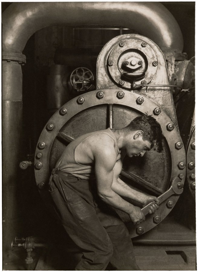 Lewis Hine. '[Mechanic and Steam Pump]' c. 1930