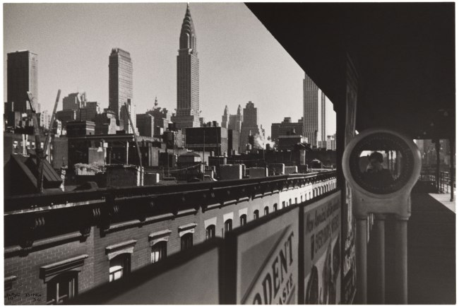 Ilse Bing (American, 1899-1998) 'New York, The Elevated and Me' 1936