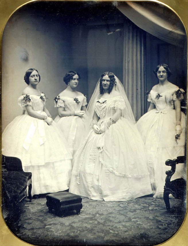 Albert Sands Southworth and Josiah Johnson Hawes. 'A Bride and Her Bridesmaids' 1851
