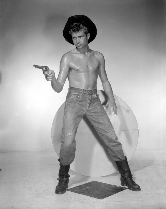 Bob Mizer. 'Untitled [Ernie Rabb, Pointed Pistol], Los Angeles' c. 1957