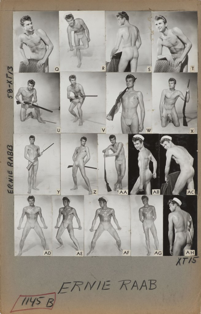 Bob Mizer. 'Athletic Model Guild Catalog Board, Ernie Rabb. [Double-sided; This side Page 58 of XT series]' c. 1957