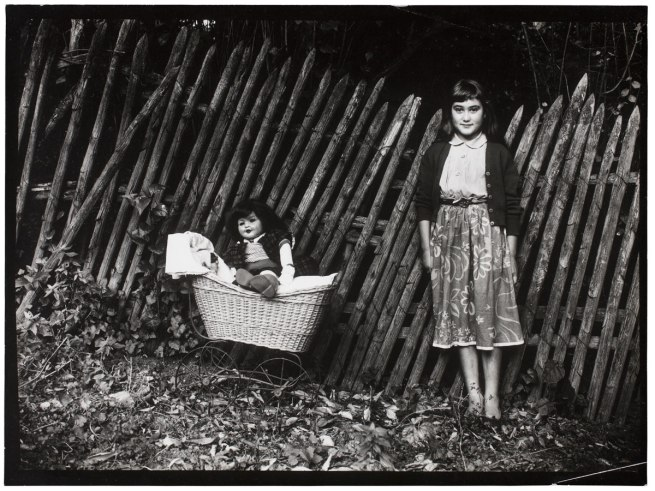 Guy Bourdin. 'Untitled' (Child with doll and pram) 1954
