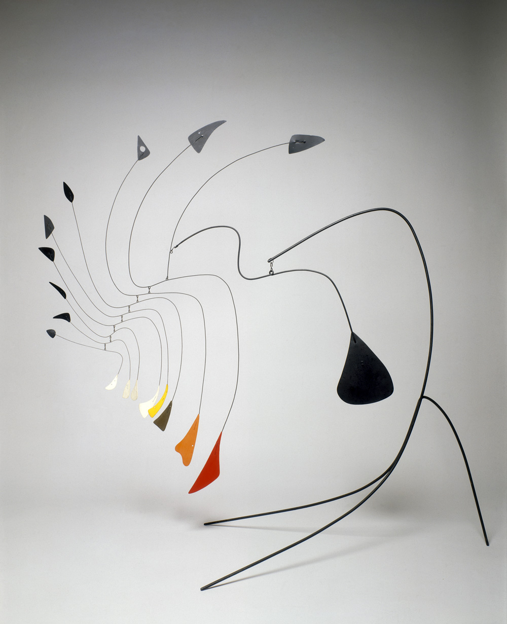 alexander calder This page is a tribute to alexander calder, the american artist famous for his animobiles, wire animals, caricature portraits, gongs, and paintings contains a store and shop, as well as many links of interest.