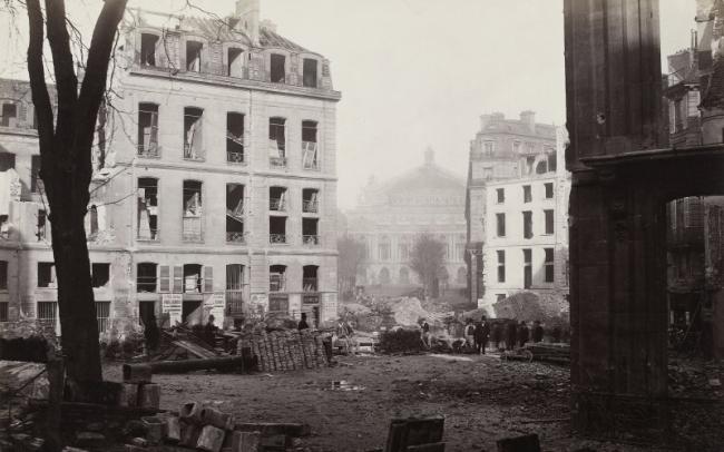 Charles Marville. 'Percement de l'avenue de l'Opéra (Construction of the avenue de l'Opéra)' December 1876