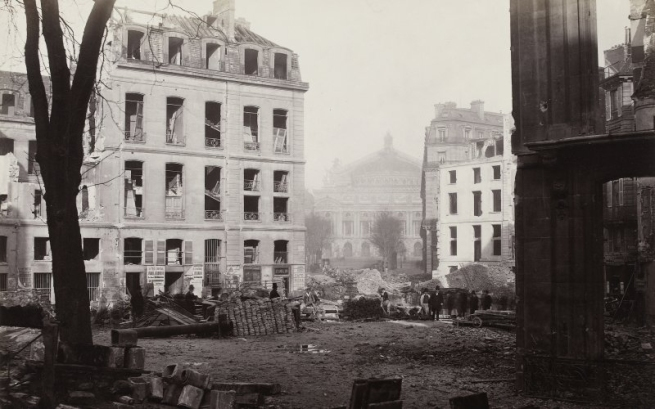 Charles Marville. 'Percement de l'avenue de l'Opéra (Construction of the avenue de l'Opéra)' December 1876