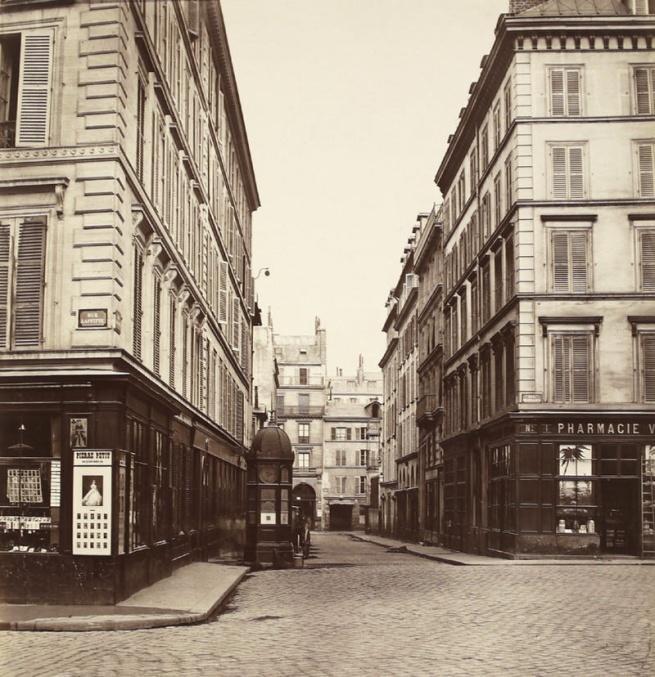 Charles Marville. 'Rue Ollivier (vers la rue Saint-Georges) (ninth arrondissement)' c. 1868