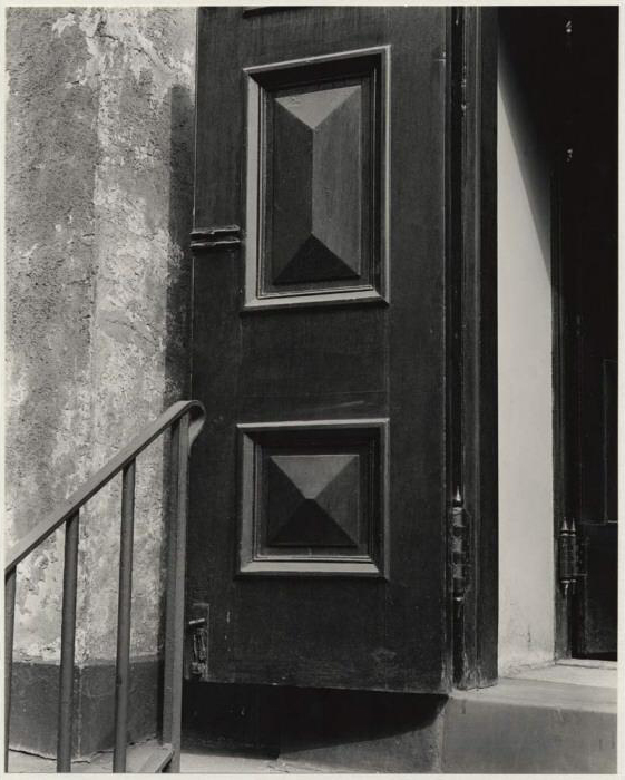 Brett Weston (American, 1911-1993) '[Church door, Bowery, New York]' c. 1945