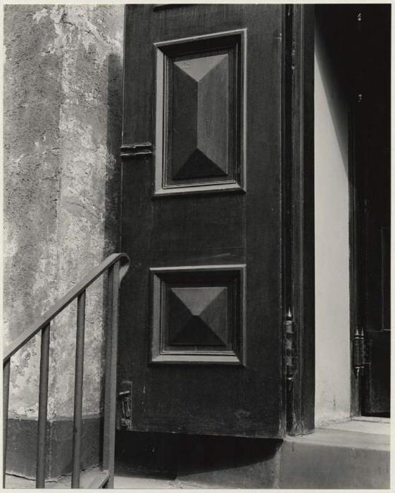 Brett Weston (American, 1911-1993) '[Church door, Bowery, New York]' c. 1945