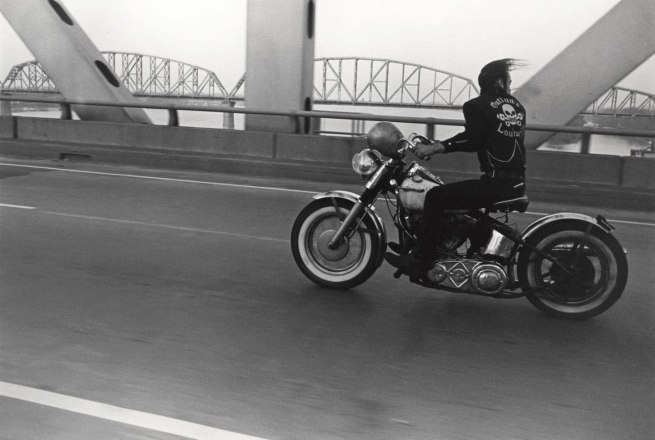 Danny Lyon (born New York City 1942) 'Crossing the Ohio River, Louisville' 1966, printed 1985