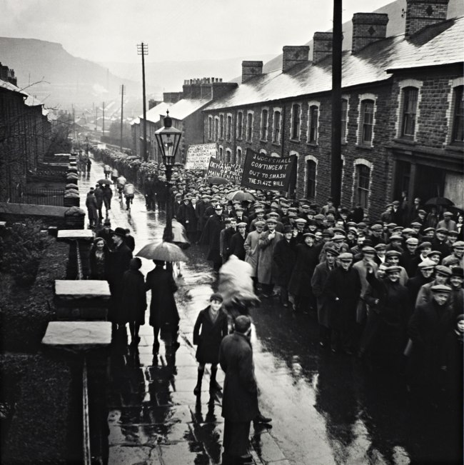 Edith Tudor-Hart. 'Unemployed Workers' Demonstration, Trealaw, South Wales' 1935